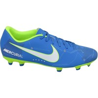 Chaussures Homme Football Nike Mercurial Vortex Iii Njr FG Turquoise-Bleu