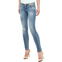 Vêtements Femme Jeans slim Guess Jean Skinny Application Bijoux Bleu (sp) Bleu
