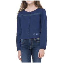 Vêtements Fille T-shirts manches longues Desigual T Shirt Niagara Navy 71T30H7 Bleu
