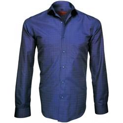 Vêtements Homme Chemises manches longues Andrew Mc Allister chemise tissu armuree archway bleu Bleu