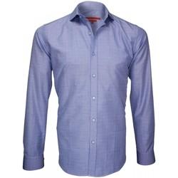 Vêtements Homme Chemises manches longues Andrew Mc Allister chemise popeline armuree archway bleu Bleu
