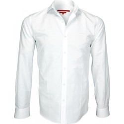 Vêtements Homme Chemises manches longues Andrew Mc Allister chemise tissu armuree archway blanc Blanc