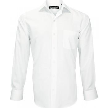 Vêtements Homme Chemises manches longues Emporio Balzani chemise tissu armuree verdi blanc Blanc