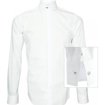 Vêtements Homme Chemises manches longues Andrew Mc Allister chemise tendance new weave blanc Blanc