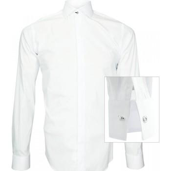 Vêtements Homme Chemises manches longues Andrew Mac Allister chemise tendance new weave blanc Blanc
