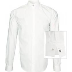 Vêtements Homme Chemises manches longues Andrew Mc Allister chemise tissu armuree wembley blanc Blanc