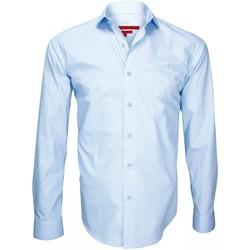 Vêtements Homme Chemises manches longues Andrew Mc Allister chemise double fil 120/2 luxury bleu Bleu