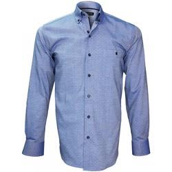Vêtements Homme Chemises manches longues Emporio Balzani chemise tissu oxford batistini bleu Bleu