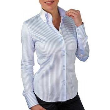 Vêtements Femme Chemises manches longues Andrew Mc Allister chemise italienne borsalino bleu Bleu