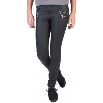 Vêtements Femme Jeans skinny Teddy Smith THE JEG POCHES ZIP Noir