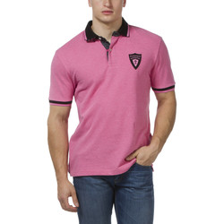 Vêtements Homme Polos manches courtes Ruckfield Polo rugby piqué rose Rose