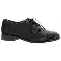 Chaussures Femme Derbies Reqins Derby cuir pailleté Noir