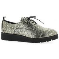 Chaussures Femme Derbies Reqins Derby cuir laminé Or