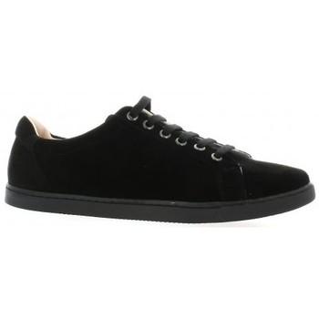 Chaussures Femme Baskets basses Exit Baskets cuir velours Noir