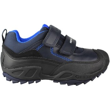 Chaussures Enfant Baskets basses Geox JN SAVAGE DOBLE BLUE