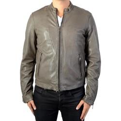 Vêtements Homme Vestes en cuir / synthétiques Redskins Veste en Cuir Iverson Rocho Elephant Gris