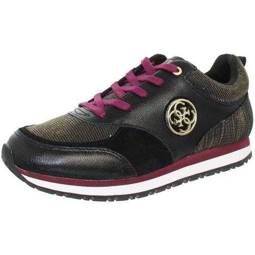b658377cce5 Chaussures Homme Baskets basses Guess Baskets Reeta ref guess41729 black  Noir