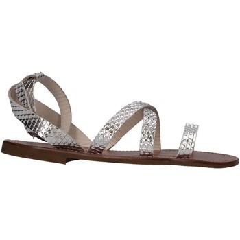Chaussures Fille Sandales et Nu-pieds Pe'pe' Pe'pe' 1267-PITAGPD Sandales Enfant Argent Argent