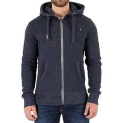 Vêtements Homme Sweats Superdry Homme Orange Label Zip Hoodie, Bleu bleu