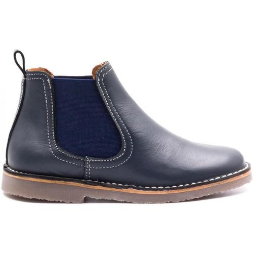 92af0ab30fac1 Chaussures Garçon Boots Boni Classic Shoes Boni Benoit - chaussure enfant  cuir bleu Bleu Marine