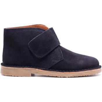 Chaussures Garçon Boots Boni Classic Shoes Bottines en daim à lacets - MARIUS II Bleu Marine
