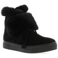 Chaussures Femme Bottes de neige Exit Boots cuir velours Noir