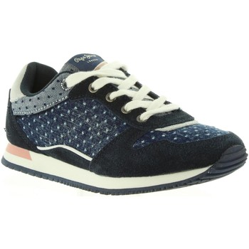Chaussures Fille Baskets basses Pepe jeans PGS30317 SYDNEY Azul
