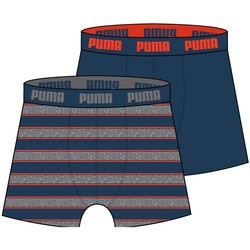 Vêtements Homme Boxers / Caleçons Puma Lot de 2 Boxers Homme Coton RUGBY STRIPED Canard Orange bleu
