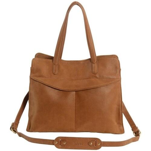 Sacs Femme Cabas / Sacs shopping Kate Lee sac a main YVANA en cuir femme Caramel