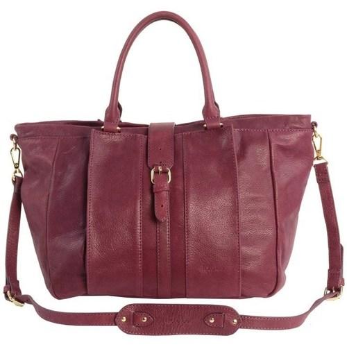 Sacs Femme Cabas / Sacs shopping Kate Lee sac a main en cuir femme LYNAH Bordeaux