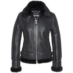Vêtements Femme Vestes en cuir / synthétiques Schott BOMBARDIER FEMME  Noir Noir