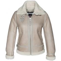 Vêtements Femme Vestes en cuir / synthétiques Schott BOMBARDIER FEMME   LIGHT BEIGE Beige