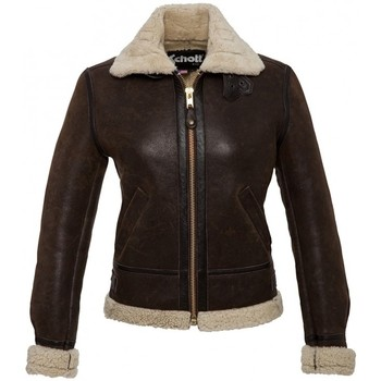 Veste Schott BOMBARDIER FEMME LIGHT DARK BROWN