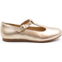 Chaussures Fille Ballerines / babies Boni Classic Shoes Ballerine en cuir à bride - MELODIE II Or