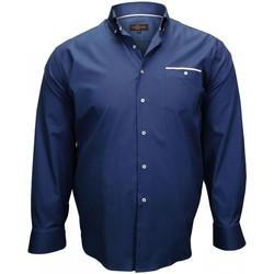 Vêtements Homme Chemises manches longues Doublissimo chemise tissu oxford london bleu Bleu