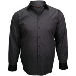 Vêtements Homme Chemises manches longues Doublissimo chemise col noir business noir Noir