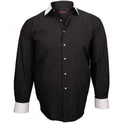 Vêtements Homme Chemises manches longues Doublissimo chemise a col blanc business noir Noir
