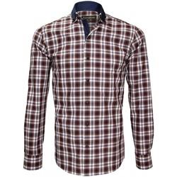 Vêtements Homme Chemises manches longues Emporio Balzani chemise a coudieres colloseo marron Marron