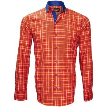 Vêtements Homme Chemises manches longues Emporio Balzani chemise a coudieres colloseo orange Orange