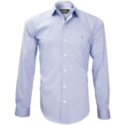 Vêtements Homme Chemises manches longues Emporio Balzani chemise tissu armuree tiberio bleu Bleu
