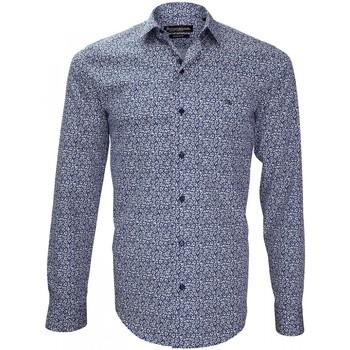 Vêtements Homme Chemises manches longues Emporio Balzani chemise imprimee tiberio bleu Bleu