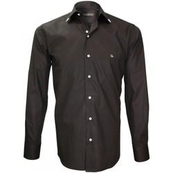 Vêtements Homme Chemises manches longues Emporio Balzani chemise mode flaminio noir Noir