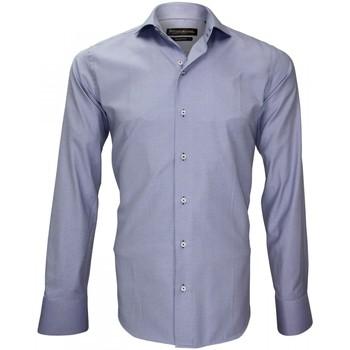 Vêtements Homme Chemises manches longues Emporio Balzani chemise repassage facile tiburtini bleu Bleu