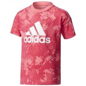 Vêtements Fille T-shirts manches courtes adidas Originals - T-SHIRT CADET LOGO rose
