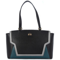 Sacs Femme Cabas / Sacs shopping La Martina PORTENA BLACK GREEN Multicolore