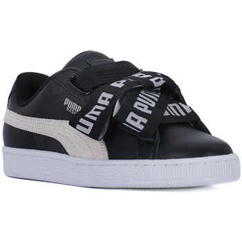 Chaussures Femme Baskets basses Puma BASKET HEART SAFARI DE Nero