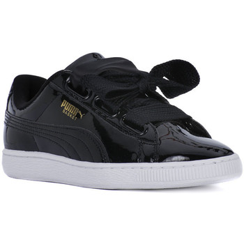Chaussures Femme Baskets basses Puma BASKET HEART SAFARI Nero
