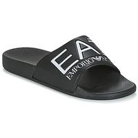 Chaussures Claquettes Emporio Armani EA7 SEA WORLD VISIBILITY SLIPPER Noir / Blanc