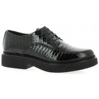 Chaussures Femme Derbies Exit Derby cuir vernis croco Noir