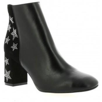 Chaussures Femme Bottines Exit Boots cuir Noir